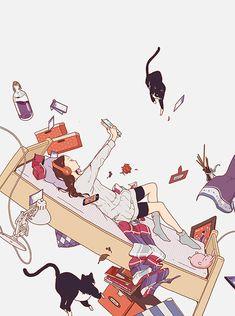 Tumblr: ukilog: 実務教育出版受験ジャーナル 28年度試験対応 Vol.4 I drew the cover illustration for…
