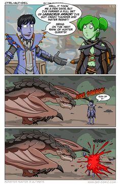 Ctrl + Alt + Del comic on Monster Hunter