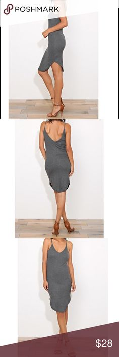 Low back dress Favorite low back chic dress in a light knit rayon/spandex PLEASE USE Poshmark new option you can purchase and it will give you the option to pick the size you want ( all sizes are available) BUNDLE And SAVE 10% ( sizes updated daily Dresses