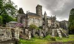 This is the beautiful backside of St. Conan's Church on Loch Awe in Scotland.  Panorama created with Photoshop from three pictures.  Then processed in Photomatix for the HDR.  Here's a link to the google maps view of the front of the church .  I found out about St. Conan's Church  on the web.  It is actually one of the newer churches with lots of cool things about it, including rabbit-head downspouts, a replica of Robert the Bruce and beautiful architecture in general!  It's right at the…