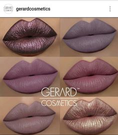 Gerard cosmetics hydra matte and metal matte lipstick swatches