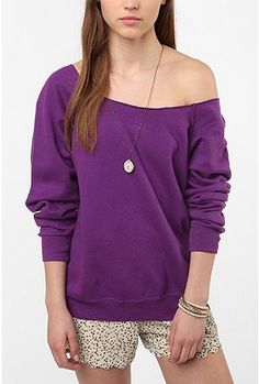 Urban Renewal Off-Shoulder Sweatshirt #UrbanOutfitters