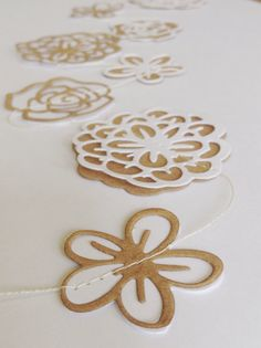 FRESH Flowers Paper Garland by MaisyandAlice on Etsy