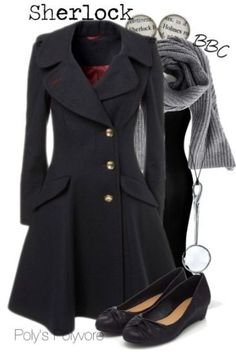 I would so wear this coat. And the shoes. And the scarf.
