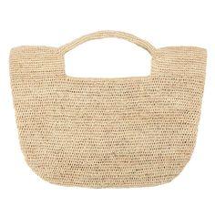 Helen raffia crochet bag