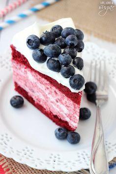 Red Velvet Ice Cream Cake Recipe // 4th of July