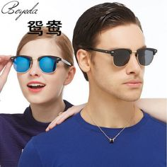 a516b37fde 2017 Vintage Metal 3016 Club Half Frame Sunglasses Men Women Fashion  Classic UV400 Mirror Brand Designer Round Sun Glasses