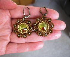 Ohrhänger *Perlen & Altgold*  Vintage look  von Natali Perla auf DaWanda.com