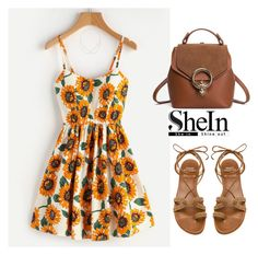 """""""SHEIN Dress"""" by tania-alves ❤ liked on Polyvore featuring Stuart Weitzman and Jacquie Aiche"""