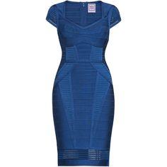 Elena Lingerie Crochet Mesh Dress ($1,850) ❤ liked on Polyvore featuring dresses, macrame dress, blue crochet dress, crochet dresses, blue dress and blue color dress