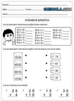 Atividades de matemática 2° ano problemas