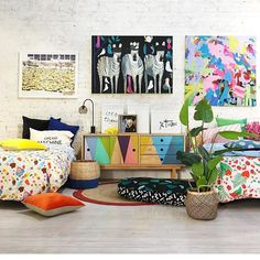 What an incredible space! Well done girls and enjoy that beach holiday🌴Don't forget to stop by our wonderful stockist @jumbledonline when in Orange. Our Billie and Ladybug Love bedding styled to perfection in this colourful space along so many other great artists. Happy Weekend🌈🌟🌴💦#goosebumpsboutiquebedding #goosebumps #bedding #bedroom #jumbledonline #billie #ladybug #ladybuglove #bubbleobill #coolkids