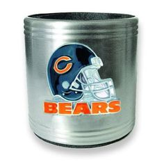 Amazon.com: NFL Chicago Bears Insulated Stainless Steel Can Cooler: Kitchen & Dining