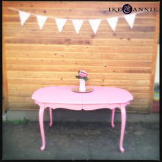 Vintage French Pink Dining Table
