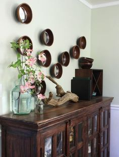 Mirrors in bowls