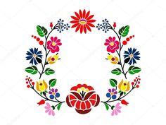 Красивых Венгерский Kalocsai цветочный узор