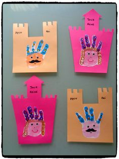 Petit roi et petite reine en empreintes de mains – Little king and little queen in handprints – My creative moods by Flo The post Little king and little queen in handprints – appeared first on Best Pins. Fairy Tale Crafts, Fairy Tale Theme, Summer Preschool Activities, Preschool Crafts, Easy Crafts For Kids, Toddler Crafts, Infant Crafts, Castle Crafts, Princess Crafts