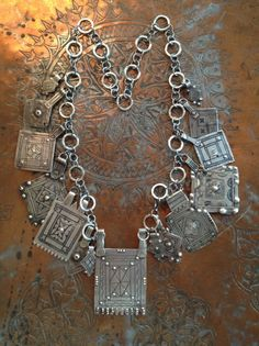 Antique Moroccan Berber Amulets and Hand Made Silver Chains - Victoria Z Rivers Jewelry withAntique Moroccan Silver Amulets++Coral+Coins+Trade Beads+ Tribal Diamonds