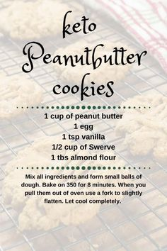 Easy Keto Peanut butter Cookies