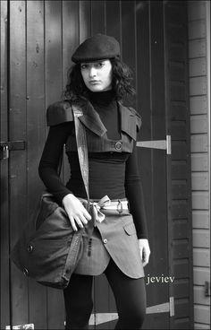 Handmade Woman Skirt - upcycled fashion.
