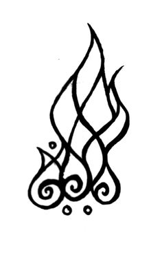 I love this! It looks like a flame Tolkien would have drawn. ♥
