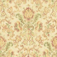 Wallpaper Sample Warm Traditional Floral Damask | eBay
