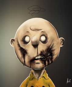 Zombie Charlie Brown  by Andre De Freitas