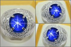 Batu Mulia Royal Blue SAPPHIRE Star Mogok Burma - SPS 229