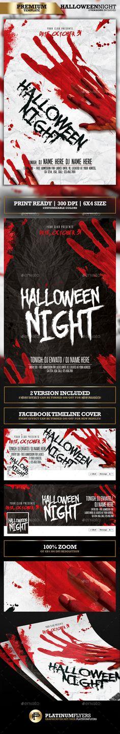 Halloween Party Flyer / Halloween Night - Print Templates