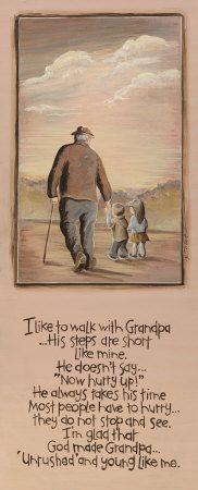 "Grandpa and me - cute to use for a grandparents day craft! Decoupage a pic of pop and q onto canvas with this poem under it. Change ""grandpa"" for ""poppy"""