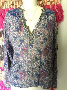 Vintage jaren 70 Indische katoen gaas blouse door lovewildevintage