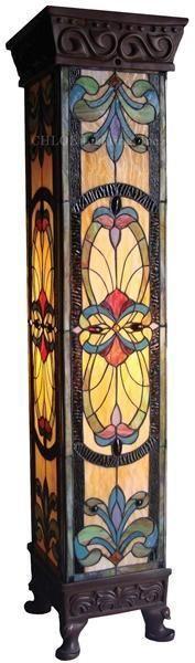 floor lamps, tiffani style, stain glass, pedest floor, light, glass tiffani, stained glass, art nouveau, style pedest