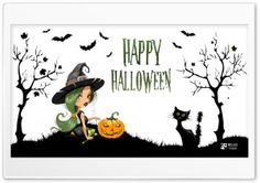 Sexy Witch on Halloween HD Wide Wallpaper for Widescreen