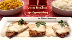Country Fried Steak a traditional breakfast dish made with tender cube steak and country gravy.
