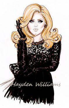 Hayden Williams Fashion Illustrations: Adele by Hayden Williams