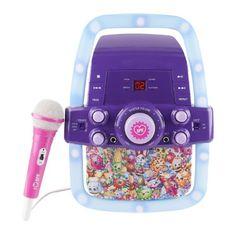 Kids Shopkins Flashing Light Karaoke Machine Fun Multicolor Toy System #Shopkins