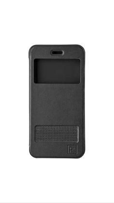 Platinum - Flip Case Black For iPhone 6/6s leather with window best price *NEW* #Platinum