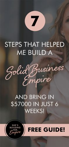 You don't have to choose between building a rock-solid business empire and living a life you deeply desire. It's time to go from OVERLOOKED to OVERBOOKED with high paying clients! Get your free guide that will walk you through the 7 steps you need to implement to start building a business that attracts your ideal clients and starts making sales.