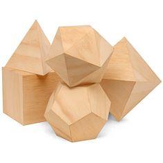 Platonic Solids Desk Set