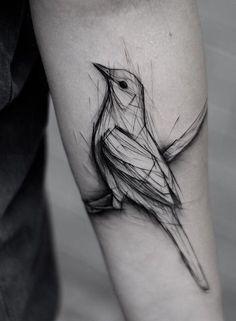 Kamil Mokot bird tattoo