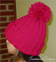 A one skein, quick and easy project - 3 or 4 hours while watching TV for each hat, pompom non included - knitted all in the round - no seaming! Knit Beanie Pattern, Baby Sweater Knitting Pattern, Baby Hats Knitting, Easy Knitting Patterns, Kids Patterns, Knitting For Kids, Knitted Hats, Knitting Projects, Hat Patterns