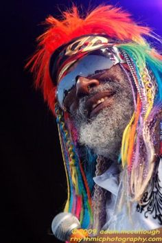 George Clinton, bringer, High Priest Grand Conductor of the Funk. Grew up in Plainfield , NJ Gathering Of The Vibes, George Clinton, Neo Soul, High Priest, Rock N Roll Music, King George, Motown, Headpieces, Crayons