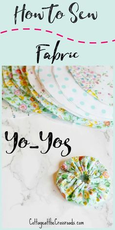Fabric yo-yos are so fun and easy to make and can be used to embellish almost anything. Follow my photo step-by-step tutorial to get started. #crafts #diy #yoyos