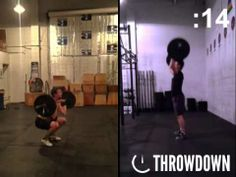 Watch Blake and Hoon go head-to-head with 95lb Thrusters