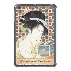 Kitagawa Utamaro Insect Cage japanese beauty lady Case For iPad Mini #japan #japanese #vintage #gift #customizable #fineart #shopping #oriental #geisha #kitagawa #utamaro