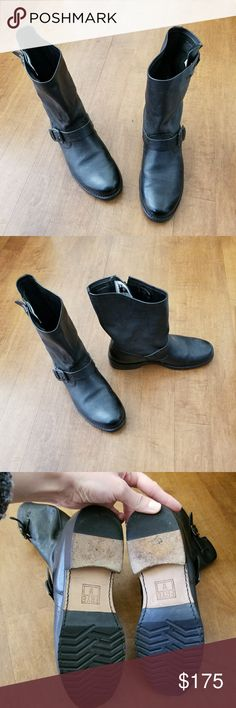 Black Frye Veronica Shortie Boots Only worn a handful of times. In excellent condition. Frye Shoes Combat & Moto Boots
