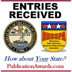 Facebook graphic promoting www.PublicationAwards.com National High School, Facebook, Words, Horse