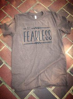 Short-sleeve unisex Jersey T-Shirt (Be Fearless shown)