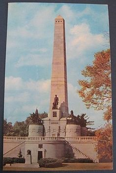 """Vintage 1960s Postcard"""" President Abraham LINCOLN Tomb - Springfield, IL (OVERSIZED & UNUSED) by MADsLucky13, $3.50"""