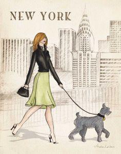 New York by Laliberte, Andrea Framed Art Prints, Poster Prints, Framed Wall, Vintage Ski Posters, New York Poster, Paris Poster, New York Girls, Photo Portrait, Photo Art